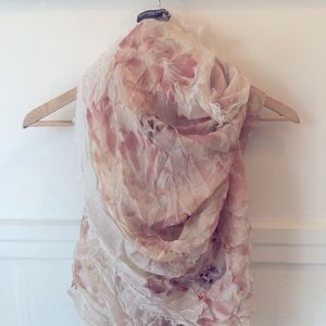 Alexander McQueen scull&floral scarf